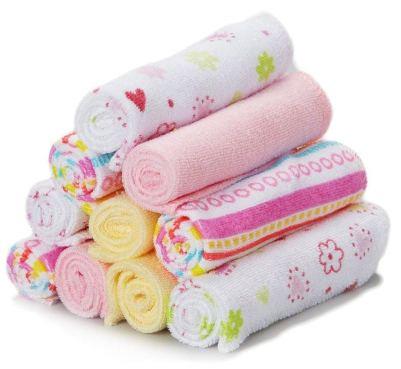 Spasilk Washcloths Pink Stripes
