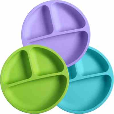 WeeSprout Silicone Divided Toddler Plates