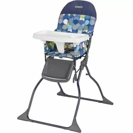 how to fold up a cosco high chair dorm lounge brand review baby bargains simple