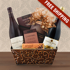 Christmas Gift Baskets With Wine
