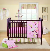 Bananafish Love Bird Crib Bedding and Decor - Baby Bedding ...