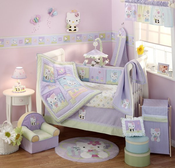 Lambs And Ivy Kitty Friends Baby Bedding