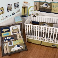 Sumersault Classic Cars Crib Bedding