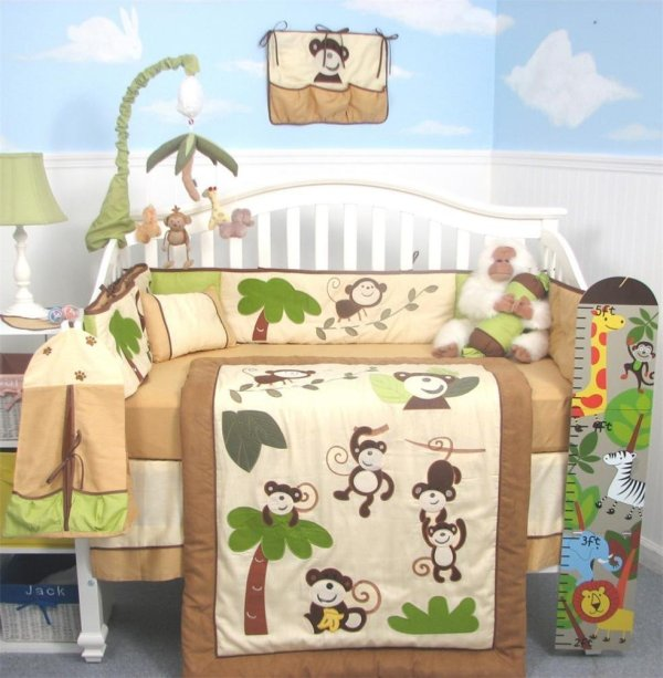 Soho Curious Monkey Baby Bedding And
