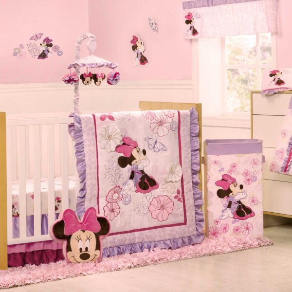 Kidsline Minnie Mouse Butterfly Dreams Baby Bedding Collection - And Accessories