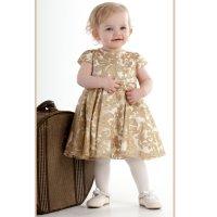Gold Baby Dresses  fashion dresses