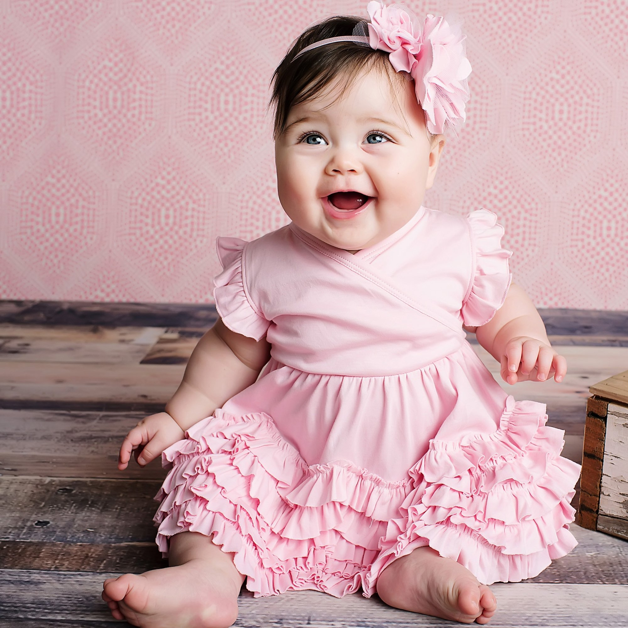 Lemon Loves Layette Pink Baby Dress