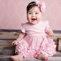 Lemon Loves Layette Pink Baby Dress - Mia in Pink