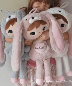 Stoffpuppe Bunny mit Personalisierung, metoo doll