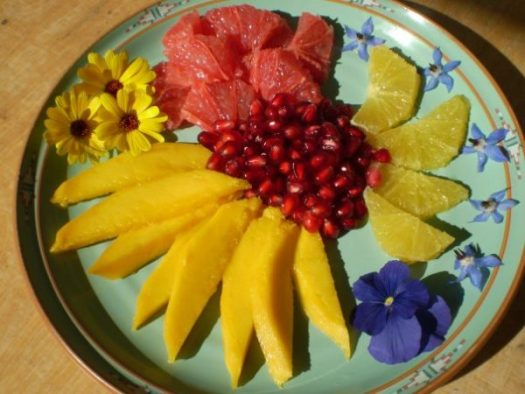 Eat more organic fruit to lower organic food costs.
