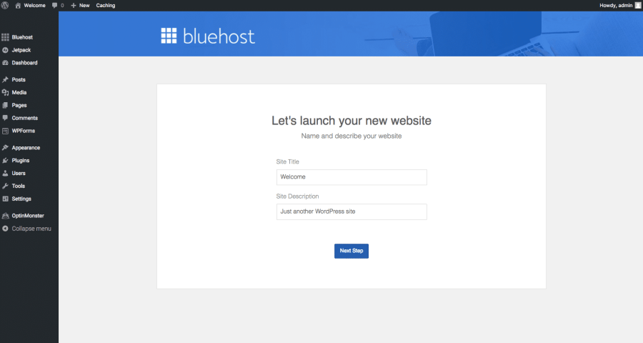 Baby Boomer blogging   hosting   Launch site on Bluehost