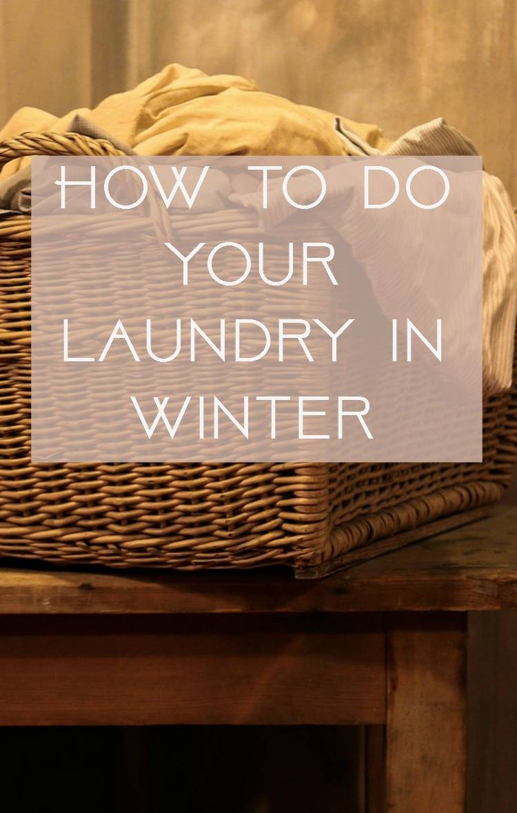 How to do laundry in winter