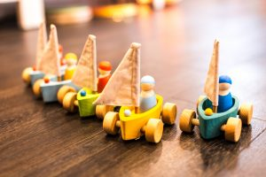 To the best way to clean wooden toys is to use a soft brush to remove dirt and a soft cloth