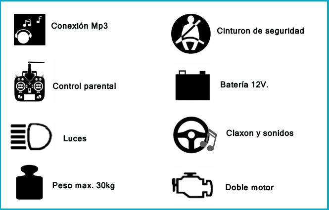 BMW X6 coche-de-ninos-con-mando-parental-24ghz