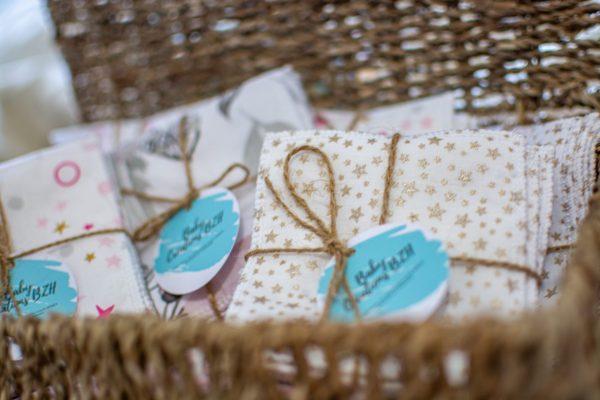 lingettes lavable réutilisables zéro déchet coton démaquillant fait main artisanal créatrice
