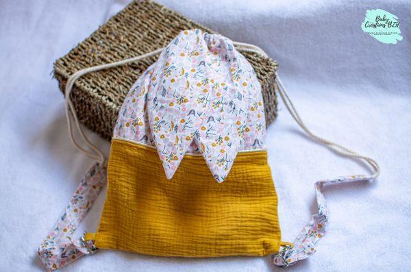 sac à dos pochon maternelle enfant personnalisé créatrice fait main artisanal