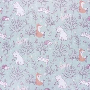 tissu coton animaux de la forêt