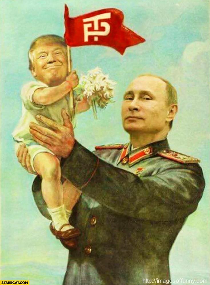 putin-holding-baby-donald-trump-photoshopped-painting