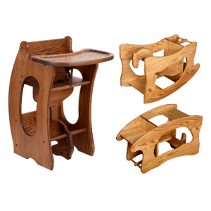 amish 3 in 1 high chair plans cloth chairs made america solid wood highchairs with sliding tray