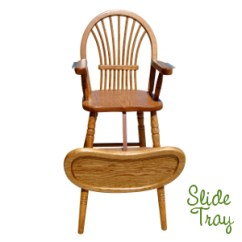 High Chair Wooden Legs Smartseat Protector Amish Sheaf Baby With Turned Usa Made Eco Friendly Nursery Furniture Trends