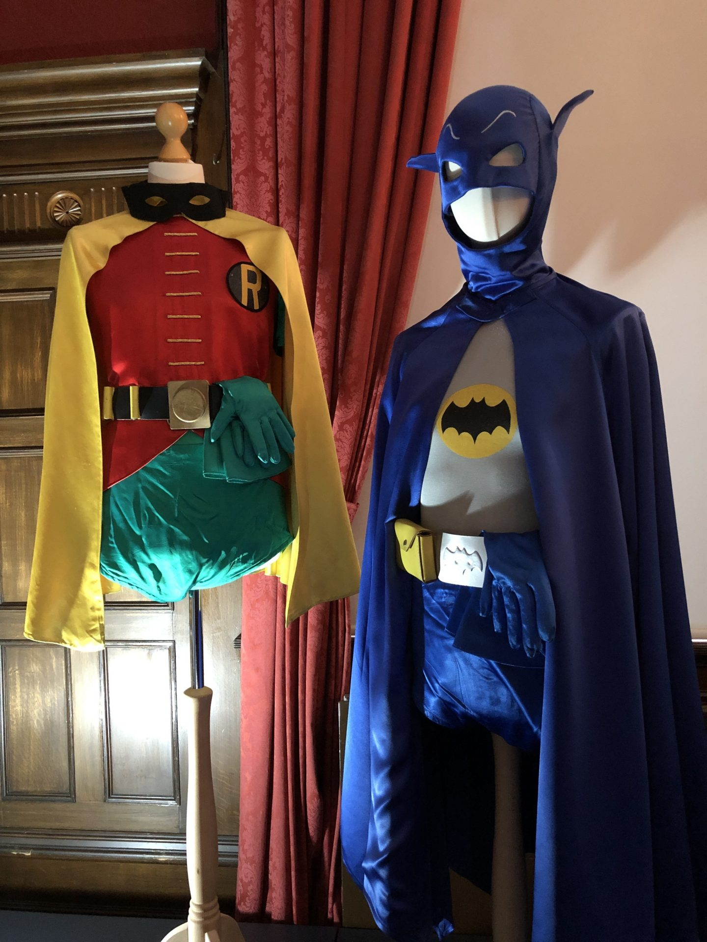 batman and robin costumes from tv only fools and horses preston park exhibit behind the seams