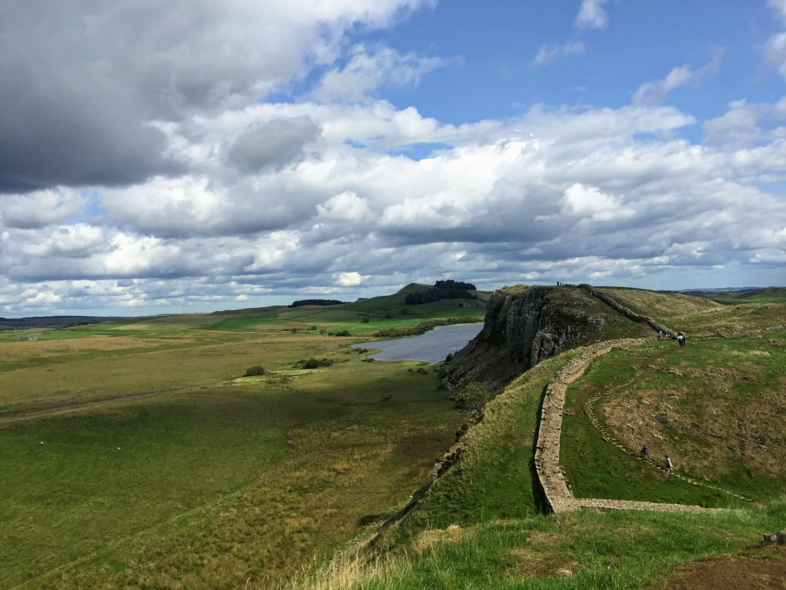 hadrian's wall dramatic landscape