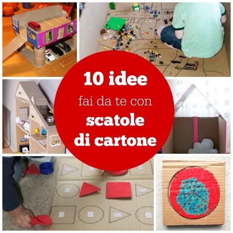10 idee fai da te con scatole di cartone babygreen for Idee fai da te