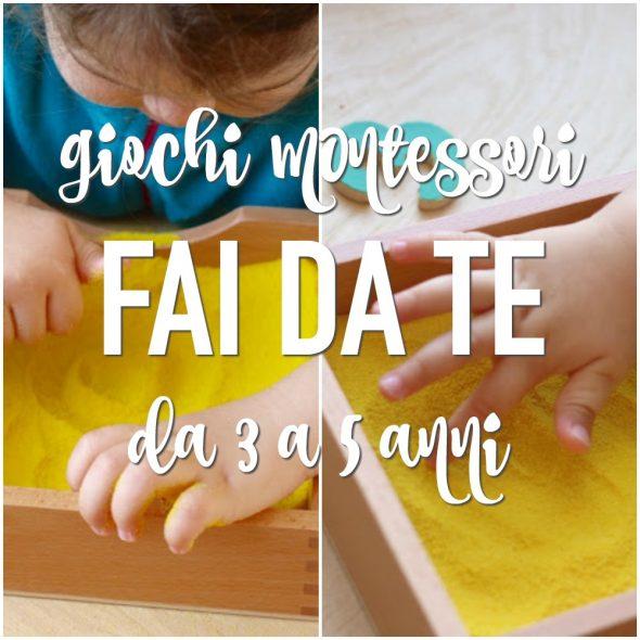 Giochi Montessori Fai Da Te 3 5 Anni Babygreen