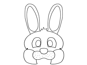 Kids Easter Bunny Mask Template {Craft}