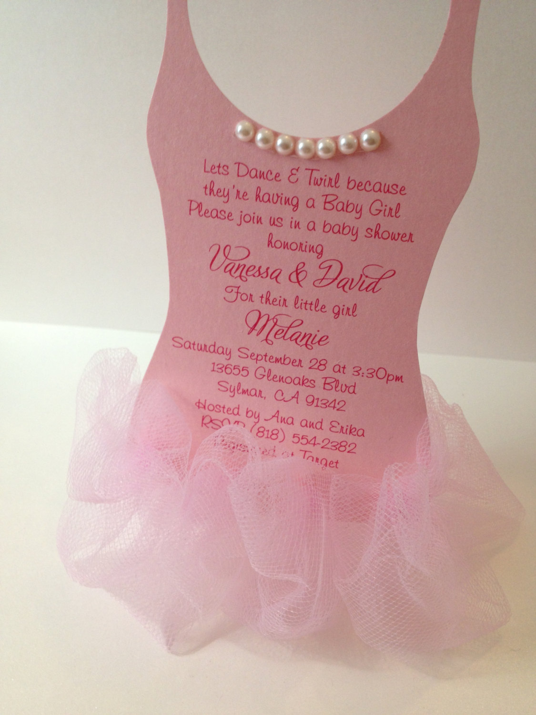 Image Result For Ballerina Baby Shower Invitations