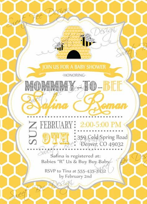 Bee Baby Shower By Baby Ideas Neutral Theme