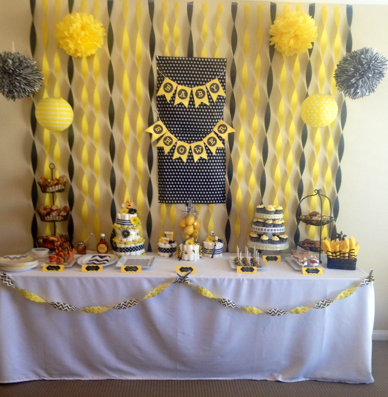 Yellow And Gray Baby Shower Favors