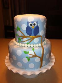 Owl Baby Shower Cake | www.imgkid.com - The Image Kid Has It!