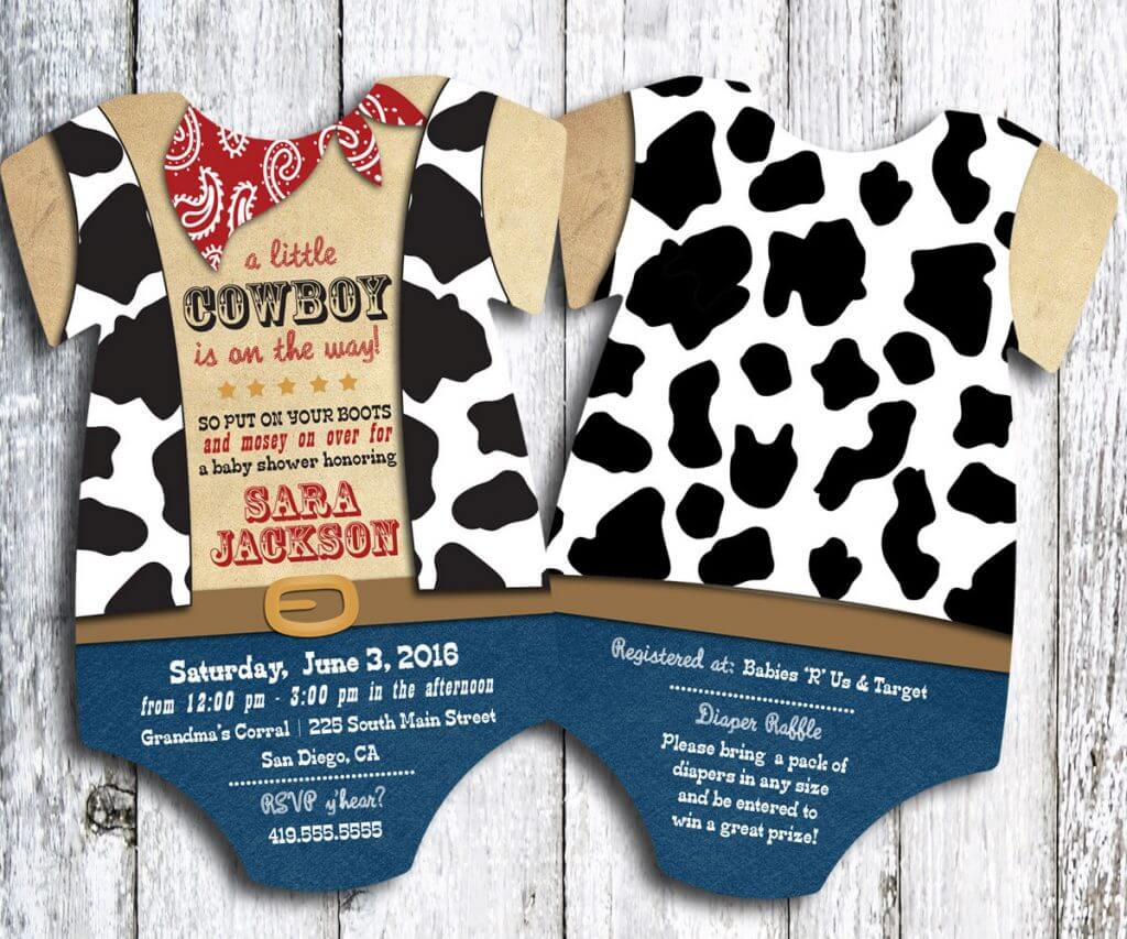 Western Theme Baby Shower Invitations PaperInvite