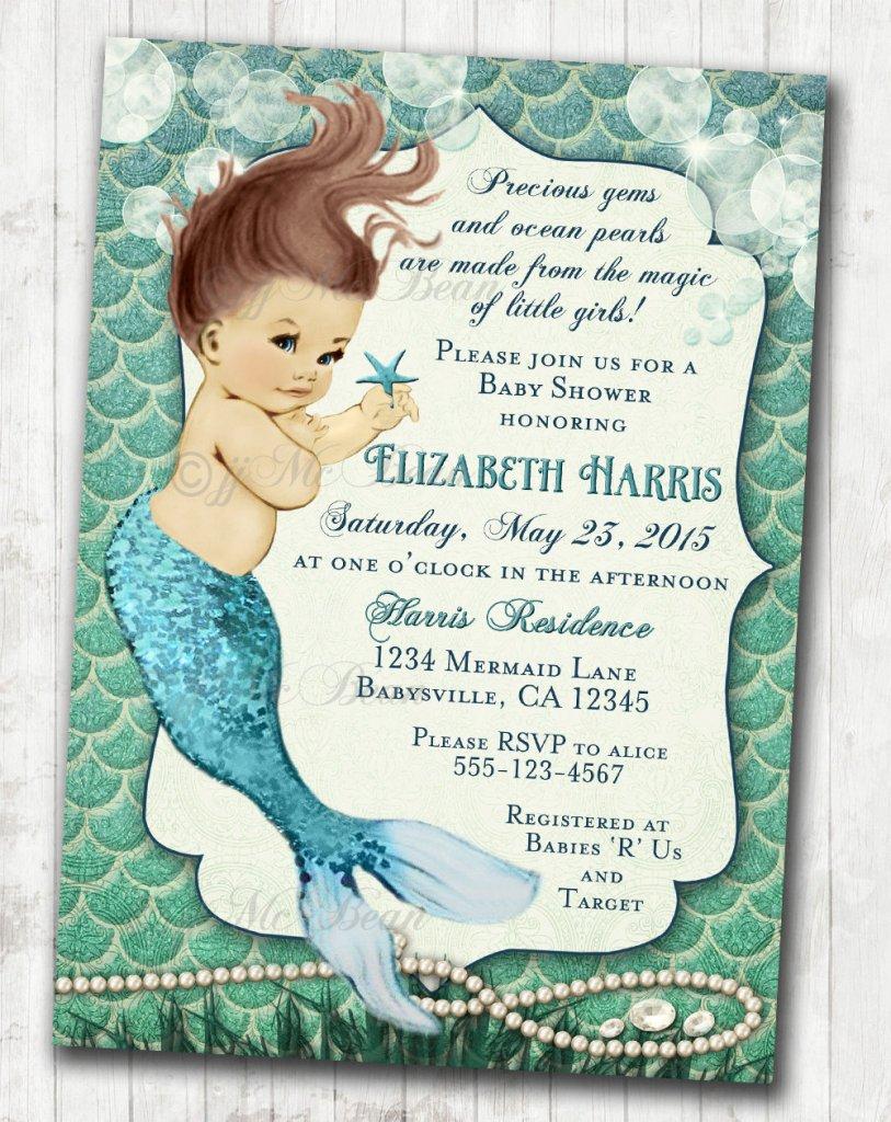 Under Sea Baby Shower Invites