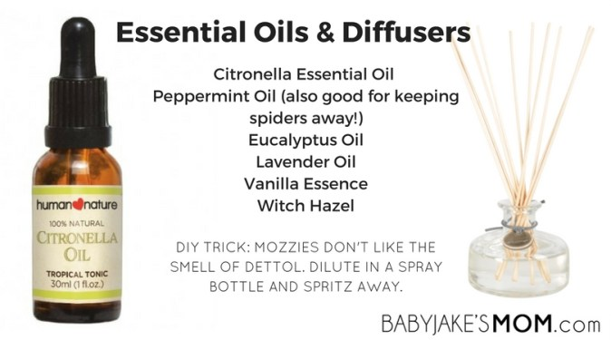 Essential Oils to keep mozzies away