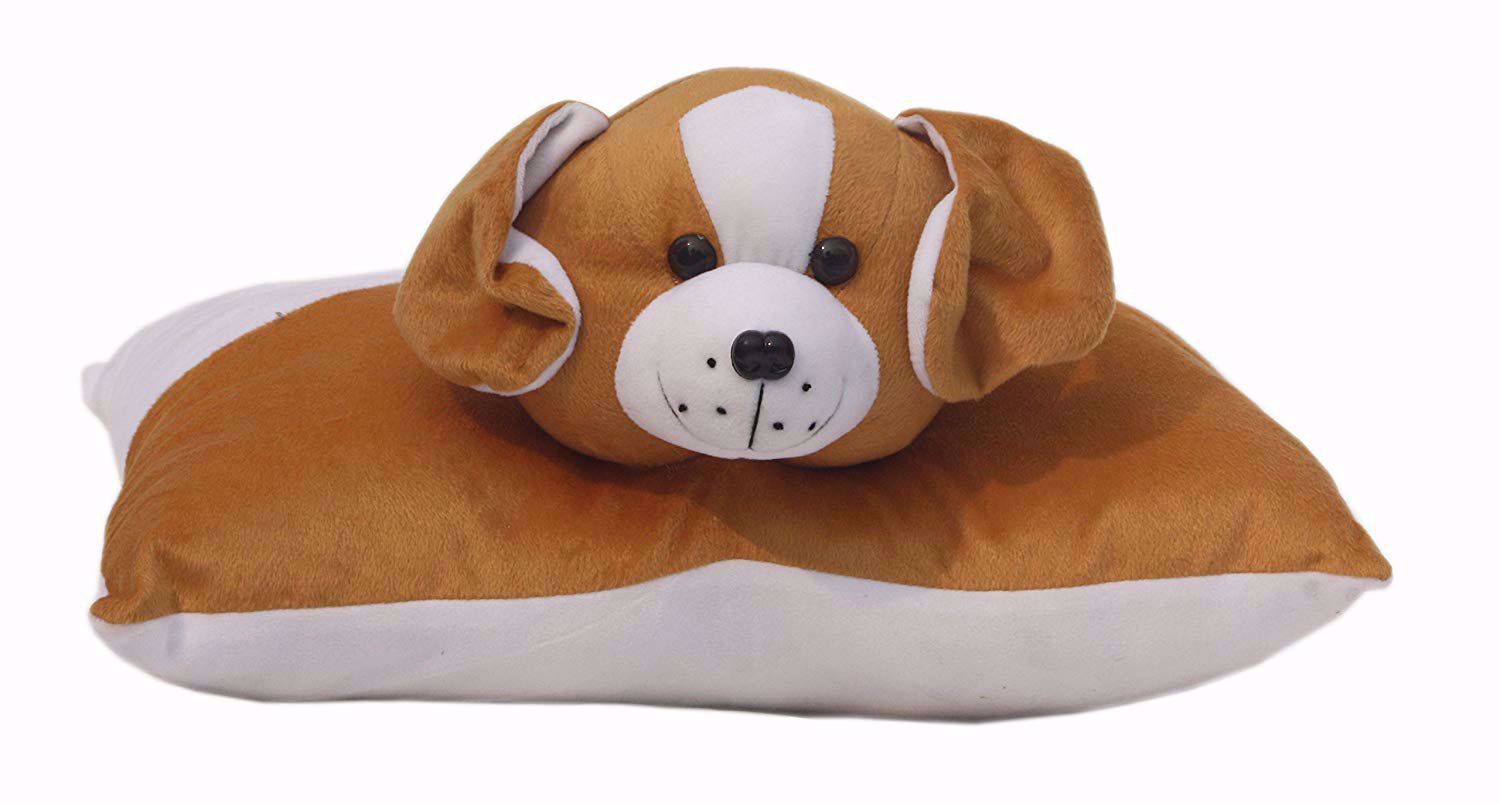 baby pillow brown dog