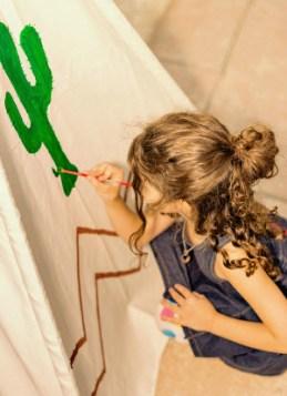 Kids Teepee painted