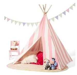 pink and white kids teepee for sale
