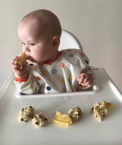 Ava at 7mo - baby led weaning