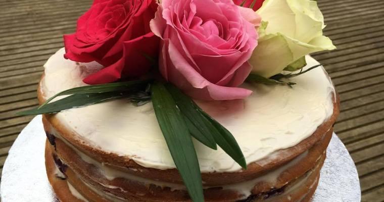Natural 'Lemon & Blueberry' 2nd Birthday Cake