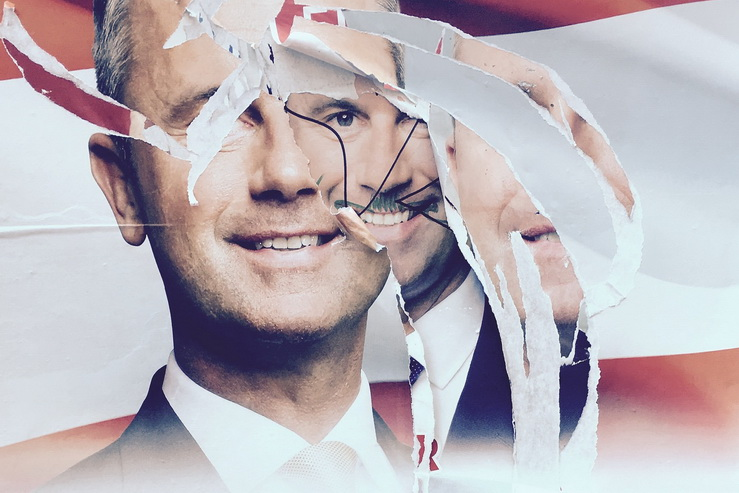 Poster of Austria's far right presidential candidate, Norbert Hofer. Photo Michael Gubi