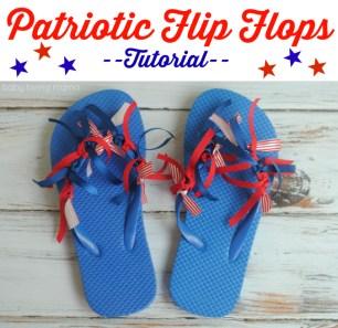 Patriotic Flip Flops Tutorial