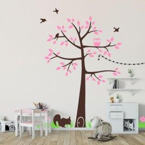 evergreen-sticker-decorazione-cameretta-albero-libreria-bosco
