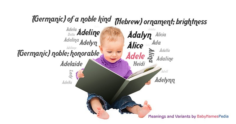 Adele - Meaning of Adele What does Adele mean?