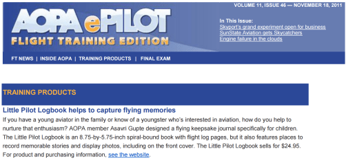 AOPA Flight Training Edition, November 2011