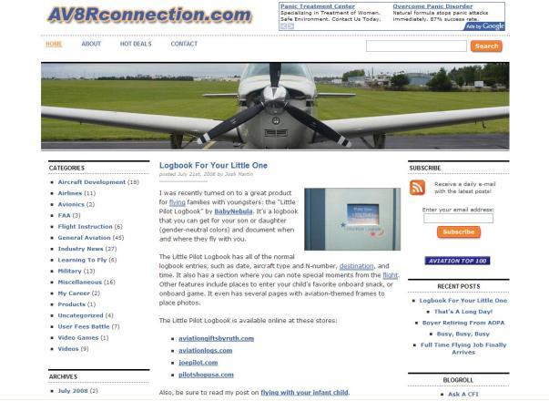 AV8RConnection, July 2008