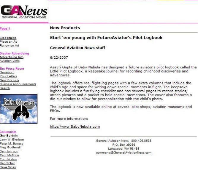 General Aviation News, June 2007