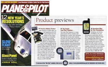 Plane & Pilot Product Previews, January 2007