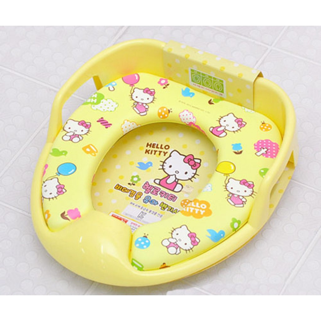 hello kitty potty chair eio push toilet training board soft seat yellow